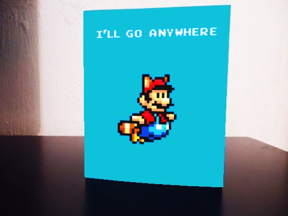Pew Pew Pew 8Bit Valentine Cards – Super Mario Bros Valentine Cards